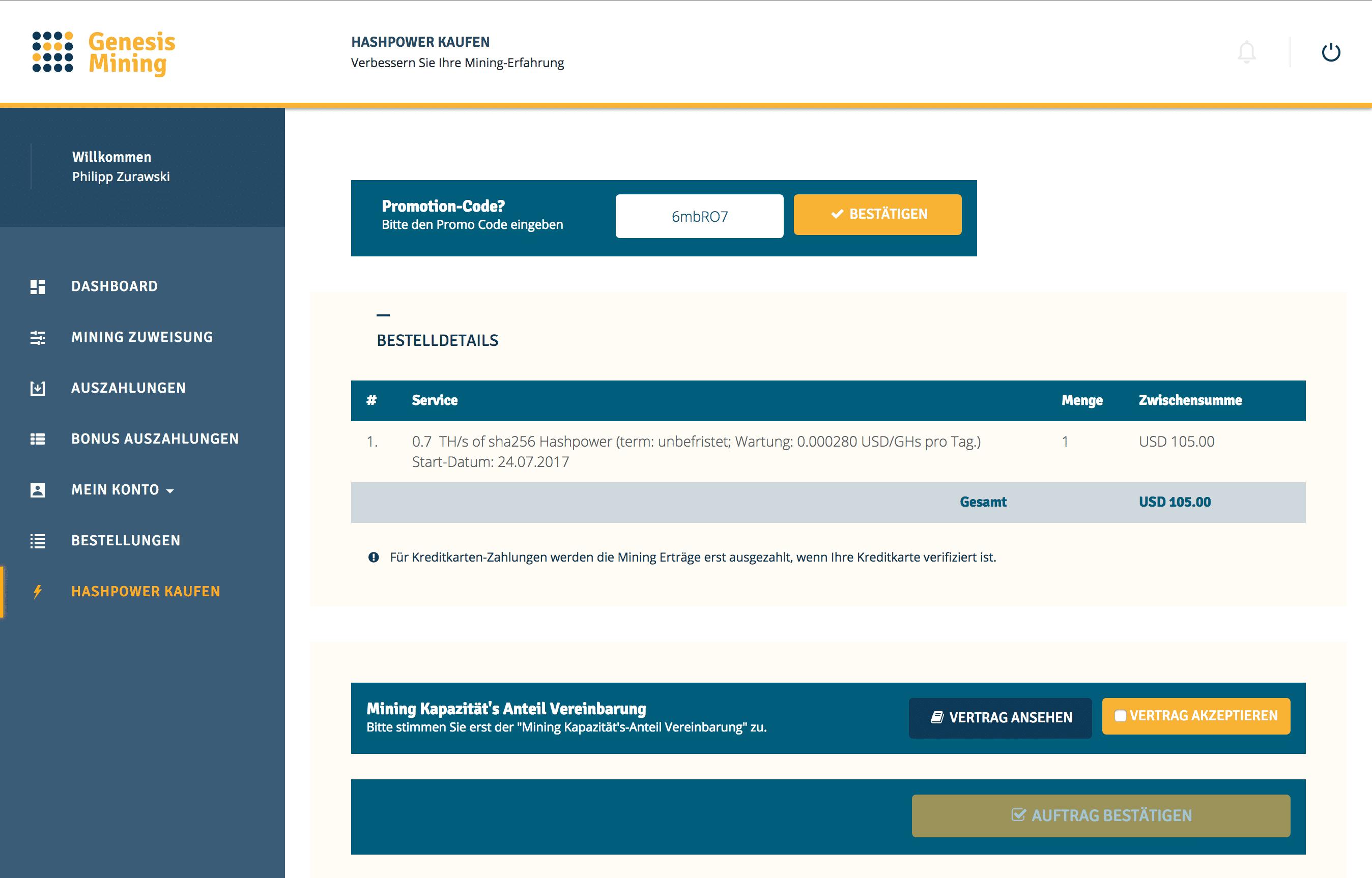 Genesis Mining Promotion Code: 6mbRO7