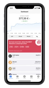 Bitpanda iOS App Dashboard