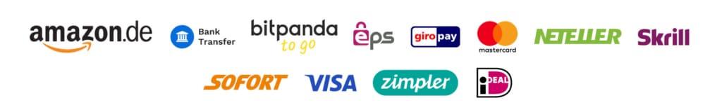 Bitpanda Ein-/Auszahlungsmöglichkeiten