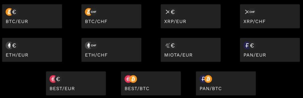 Bitpanda Pro Märkte