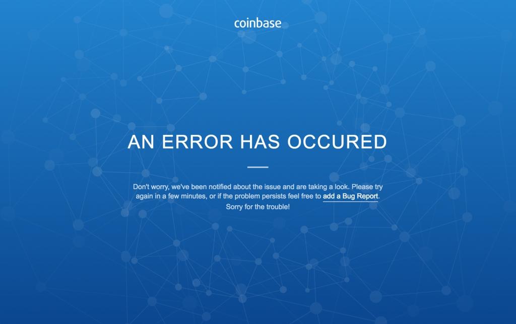 Coinbase down, nicht erreichbar