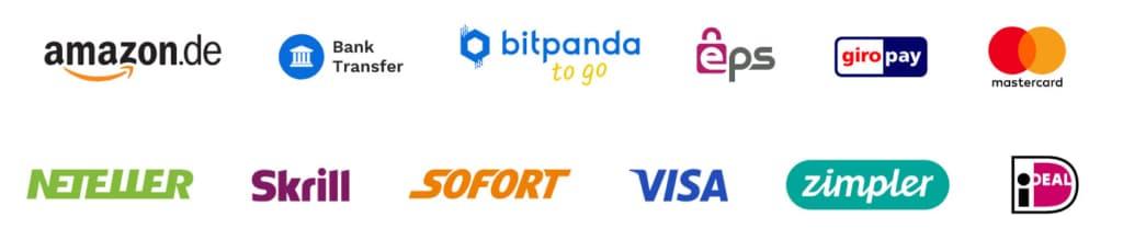 Bitpanda Zahlungsmöglichkeiten