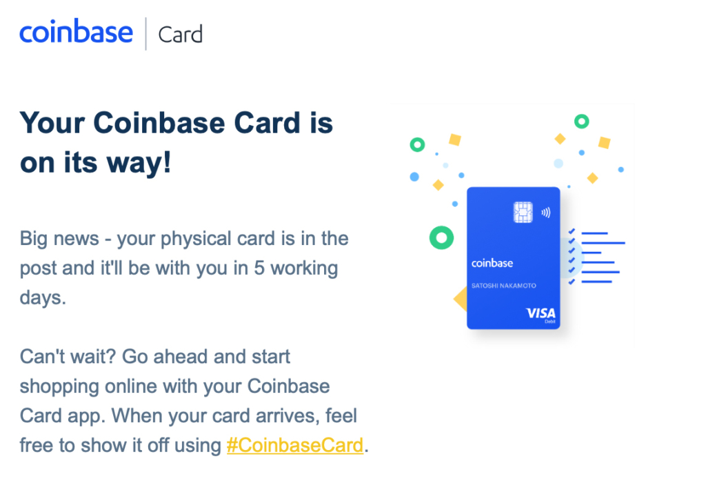 Coinbase Kreditkarte