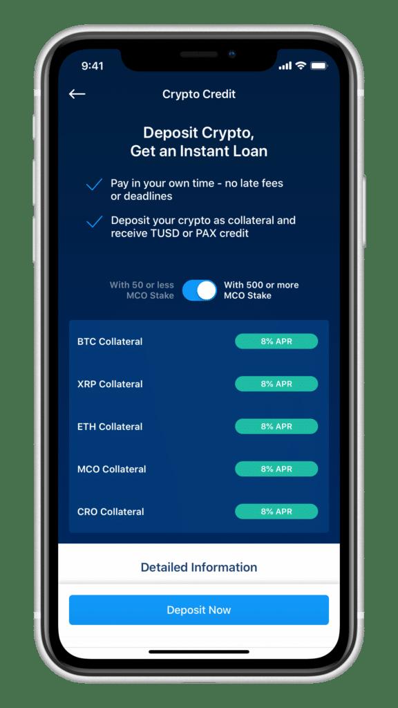 Crypto Credit - Kredit ab 100TUSD, PAX