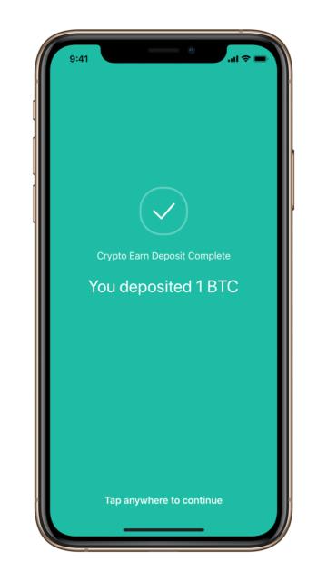 Crypto.com Earn 1BTC Deposit