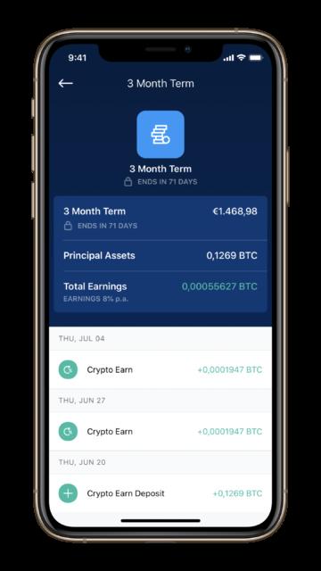 Crypto.com Earn Zinsen