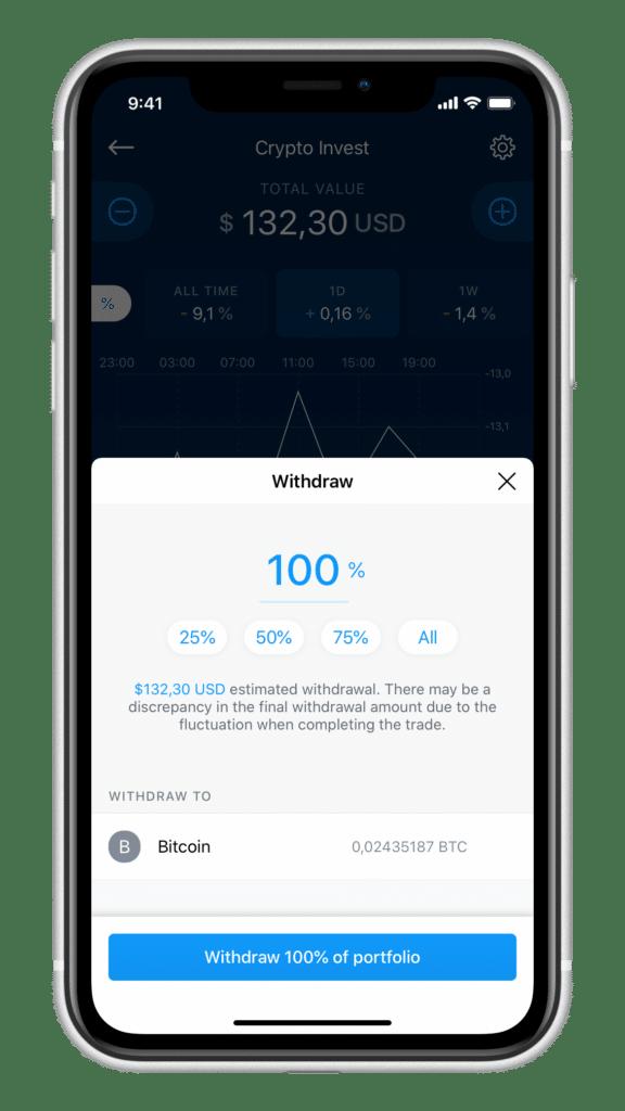 Crypto Invest jederzeitige Auszahlung