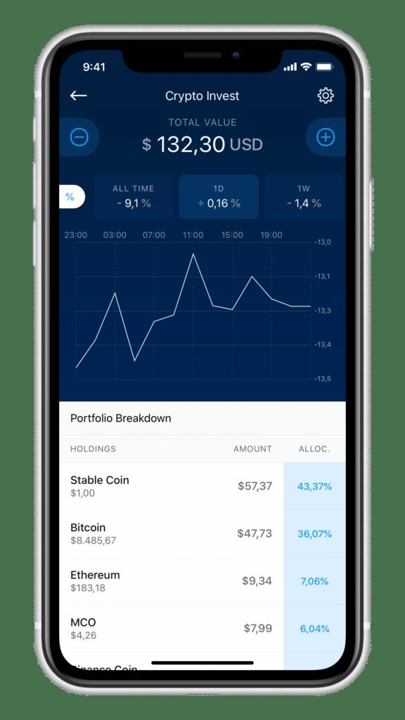 Crypto Invest Portfolio Übersicht