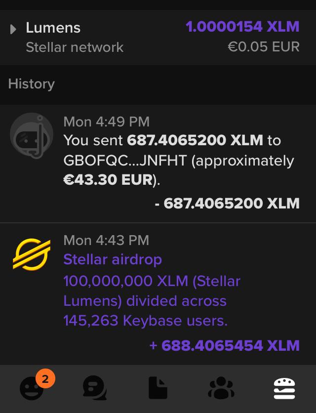 Stellar Space Drop: Erhalte bis zu $500 in XLM, indem du Keybase verwendest