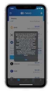 Nexo Krypto Zinsen auf StableCoins