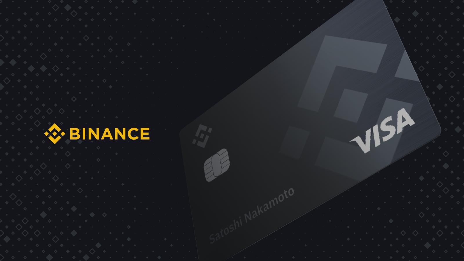картой Visa от Binance