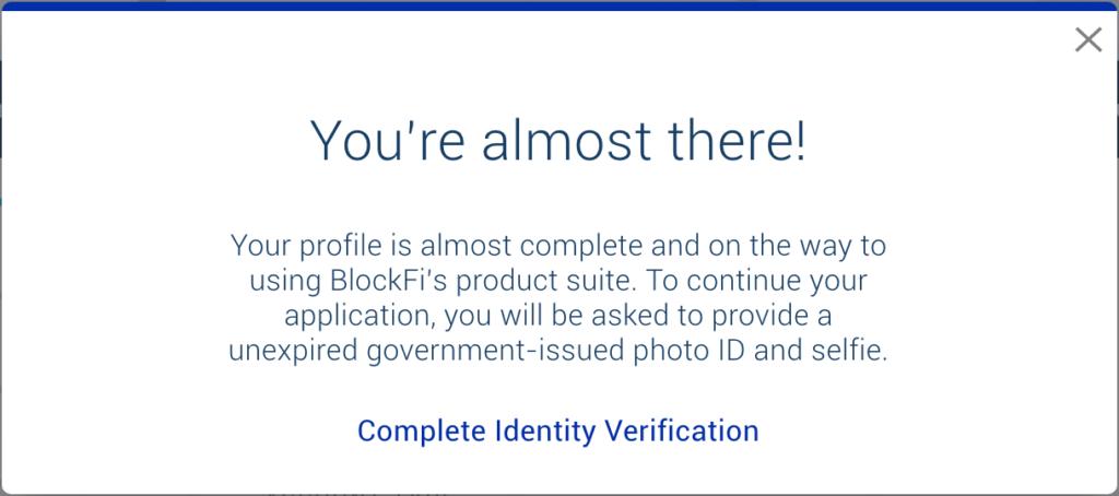 BlockFi Account Verifizierung