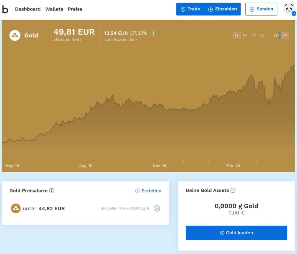 Gold kaufen bei Bitpanda