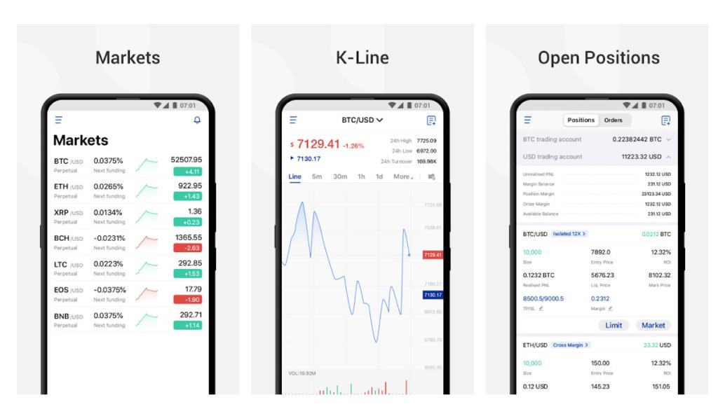 Phemex Android Trading App